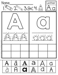 ABC Cut and Paste Fonts are a GREAT way for kids to practice upper and lowercase letter identification, letter formation and fine motor skills! The different fonts allow students to identify and recognize words in various printed and published styles. Upper And Lowercase Letters, Lower Case Letters, Teaching Kindergarten, Teaching Kids, Pre K Curriculum, Letter Identification, Sight Word Activities, Letter Formation, School Worksheets