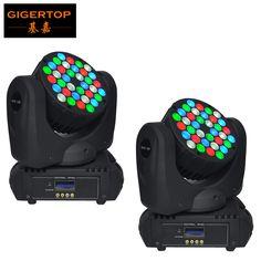 Freeshipping 2pcs/lot 36 X 5W LED Beam Wash Moving Head Light 36 CREE LEDs (R8,G10,B10,W8) Super Compact for  disco, bar, club #Affiliate