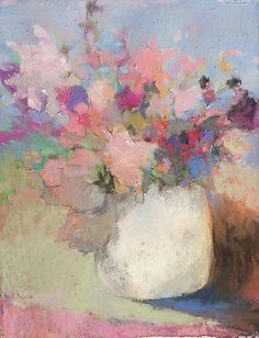 Casey Klahn, Floral & Gardens, Pastels, Small (Up to Floral Redone Art Floral, Pastel Artwork, Plant Painting, Paintings I Love, Abstract Flowers, Oeuvre D'art, Painting Inspiration, Flower Art, Sculpture