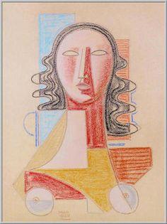 Mario Tozzi 1977: Figure Rouge Pastello su Carta  cm.(65x50) Collezione Privata Firenze  Archivio n.104.