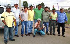 Con la buena gente de Pisco