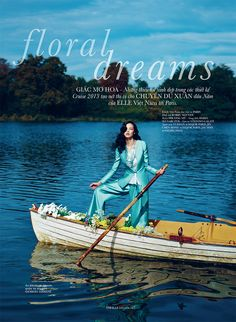 Floral Dreams by Phuong My & Bobby Nguyen for Elle Vietnam Jan 2013