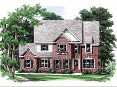 Eplans New American House Plan - Unique Charm - 2784 Square Feet and 5 Bedrooms from Eplans - House Plan Code HWEPL09490