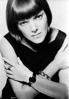"""This is, fashion designer, Mary Quant when she was 21 years old. She is responsible for the """"London Look"""" in the 60s."""