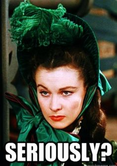 Image result for scarlett ohara running meme