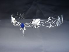 My Ivy Leaves circlet (tiara) - the design is inspired by Celtic knotwork, Ivy leaves and the elvish headpieces worn in the Lord of the Rings