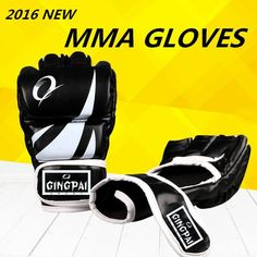 2016 New Grappling MMA Gloves PU Punching Bag Boxing Gloves Black/Blue/Red Free Shipping