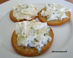 Cucumber and Onion Cracker Spread