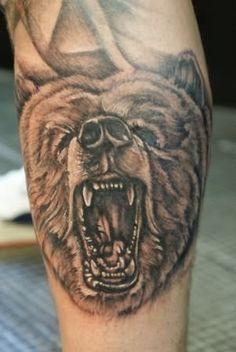 GRRRRRRR bear tattoo