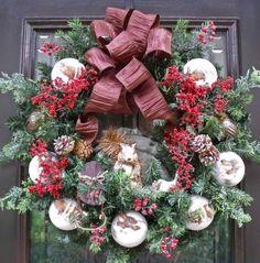 holliewallace  Christmas wreath on Ebay
