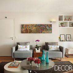 Ambientes sociais integrados transformam apartamento em São Paulo. Leia mais: