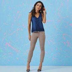 Closet Lit: Capri Color e Camisa Regata Jeans #closetlit