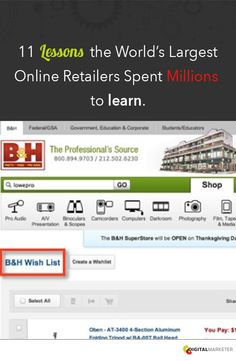 11 Lessons the World's Largest Online Retailers Spent Millions to Learn. #eCommerce | www.digitalmarketer.com