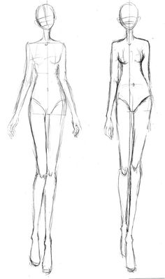 Croquis for a long skinny figure