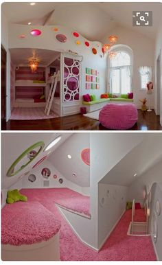 Awesome bedrooms - Bunk Bed With Secret Room (Bunk Bed With Secret Room) design ideas and photos Dream Rooms, Dream Bedroom, Room Decor Bedroom, Bedroom Ideas, Girl Room Decor, Bedroom Table, Bedroom Stuff, Bedroom Green, Hidden Rooms