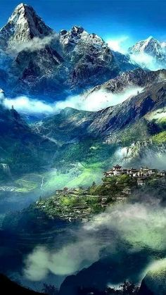 Looks like something out of Lord of the Rings: Himalayan village - Nepal