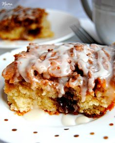 Do you miss cinnamon rolls and cinnamon buns since going gluten-free? Now you don't have to! This is not your average cinnamon cake. This gluten-free cinnamon roll cake has both the texture and the taste of a gooey cinnamon roll. Cinnamon rolls are not just for breakfast anymore. mamaknowsglutenfree.com #glutenfreecinnamonrolls #glutenfreecinnamonrollcake #glutenfreecake #glutenfreerecipe #dairyfree