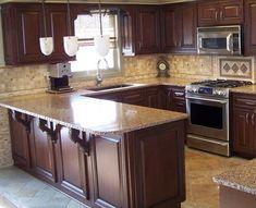 Simple kitchen backsplash simple kitchen ideas home a kitchen designs a beautiful laminate kitchen inexpensive kitchen . Dark Kitchen Cabinets, Kitchen Redo, New Kitchen, Kitchen Remodel, Kitchen Ideas, Kitchen Backsplash, Kitchen Black, White Cabinets, Dirty Kitchen