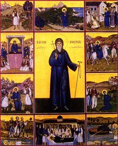 Full of Grace and Truth: St. Kosmas Aitolos, the New Hieromartyr and Equal-to-the-Apostles Roman Church, Love Your Wife, 24. August, Byzantine Icons, Orthodox Christianity, Icon Collection, Orthodox Icons, Saints, Images