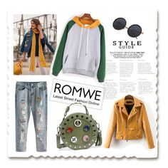 """""""Color Block Hooded Sweatshirt"""" by mery66 ❤ liked on Polyvore featuring MELLOW YELLOW"""