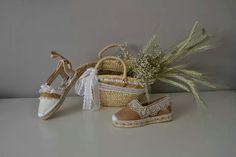 Os presentamos la colección ceremonia de Rosa Rosae,  las esparteñas más elegantes para nuestras damitas y pajes. Little Ones, Designer Shoes, Straw Bag, Espadrilles, Peep Toe, Sandals, Crochet, Heels, Island