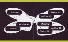 UN Studio - Mobius House, Het Gooi, Netherlands, Diagram Un Studio, Concept Diagram, Contemporary Architecture, Family Houses, Inspireren, Christian, Architectural Drawings, Triptych, International Airport