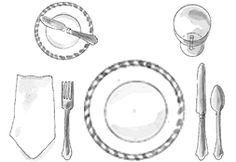 How to Set a Table -- The Rules and Simple Diagrams Straight from the Experts on Entertaining and Etiquette -- for Formal, Informal and Basic table settings.