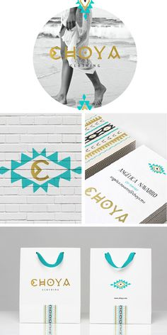 Choya by Cocoa Branding, via Behance Love the color scheme Brand Identity Design, Corporate Design, Branding Design, Branding Ideas, Corporate Identity, Logo Inspiration, Catalogue Design, Yoga Logo, Brand Style Guide