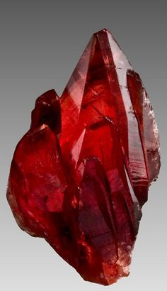 Rhodochrosite, single-crystal gem. Northern Cape Prov., South #Gemstones  http://colorfulgemstones638.blogspot.com