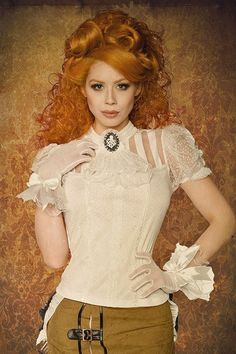 Steampunk-Bluse-weiss #SteamPUNK ☮k☮ #coupon code nicesup123 gets 25% off at  www.Provestra.com www.Skinception.com and www.leadingedgehealth.com