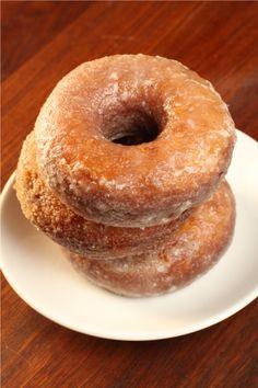 Sweet potato doughnuts...I'm determined to use every last sweet potato I grew this year :)