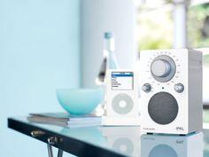 iPal High Gloss White and Silver :: Tivoli Audio Table & Portable Radios