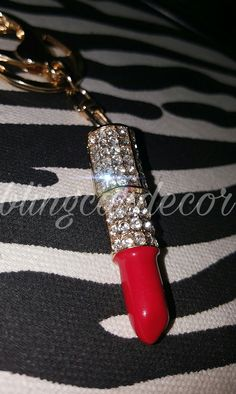 Cute lipstick keychain for women! Check out www.etsy.com shop blingcardecor  for more beautiful keychains! Bling Car Decor · Bling Purse Charms    Keychains 2ede6d984b58