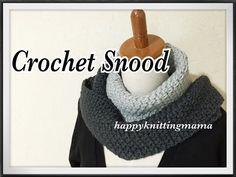 ニット風かぎ編みスヌードの編み方(1)diy crochet cowl like knit - YouTube