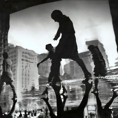 (OvO)--Office Workers Returning Home, New York City, NY, 1966