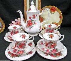 ROYAL ALBERT TEAPOT CENTENNIAL ROSE  TEASET TEA CUP AND SAUCER TRIOS COFFEE POT  in Pottery & Glass, Pottery & China, China & Dinnerware, Other Tea Pots & Tea Sets | eBay