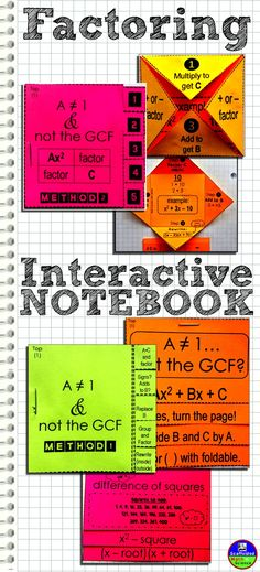 Here's a few flippables for a factoring quadratics interactive notebook. This project was a long time coming and I'm psyched that I finally completed it!