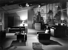 Interior 1949 - Fountainhead Set Design
