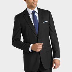 Joseph & Feiss Black Multistripe Classic Fit Suit - Classic Fit   Men's Wearhouse