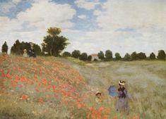 Claude Monet (1840-1926) I Papaveri --enuclea le principali direzioni della poetica impressionista, ne vive tutti gli sviluppi fino all'astrazione; interesse non tanto per il soggetto in sè ma per la luce che lo circonda e determina