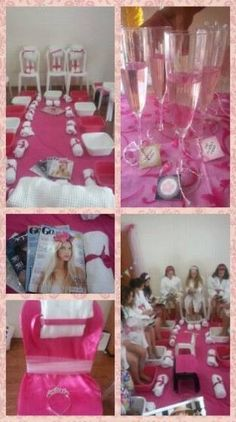 Spa party for girls Girls Pamper Party, Spa Sleepover Party, Spa Day Party, Salon Party, Kids Spa Party, Spa Birthday Parties, Slumber Parties, Pajama Party, Bachelorette Parties