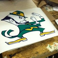 Notre Dame Cornhole Boards Decals