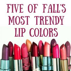 5 Of Fall's Most Trendy Lip Colors #Beauty #Musely #Tip