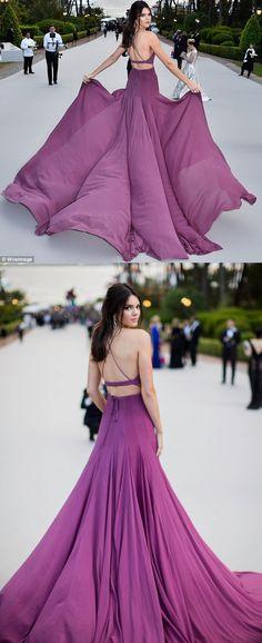 2017 prom dress, long prom dress, purple prom dress, formal evening dress