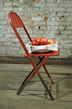 Vintage Red Folding Chair.