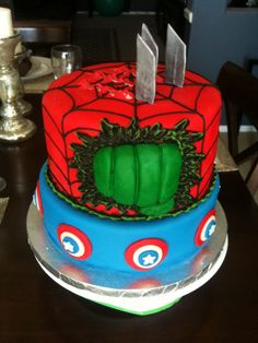 Hulk/Spiderman fisting cake. Great for the kinky nerd in your life!