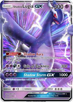 Shadow Lugia GX Custom Pokemon Card <<< I want it Fake Pokemon Cards, Pokemon Cards Legendary, Pokemon Tcg Cards, Pokemon Trading Card, Pokemon Memes, Best Pokemon Card, Pokemon Comics, Pokemon Funny, Pokemon Lugia