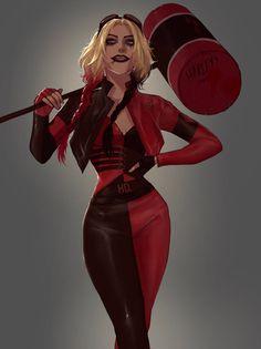 Dc Comics Characters, Dc Comics Art, Comics Girls, Harley Quinn Drawing, Joker And Harley Quinn, Harey Quinn, Chica Gato Neko Anime, Margot Robbie Harley, Gotham Girls