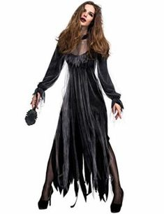 34162fa906a Halloween New Horror Ghost Bride Zombie Costume bar Party Stage Vampire  Devil Costume -- Such