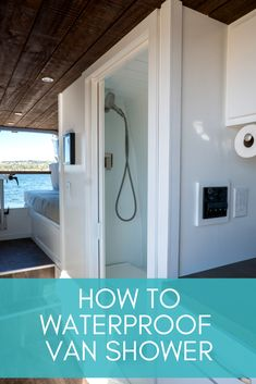 Want a van conversion with a bathroom? Learn how to waterproof your shower in this step-by-step blog post.